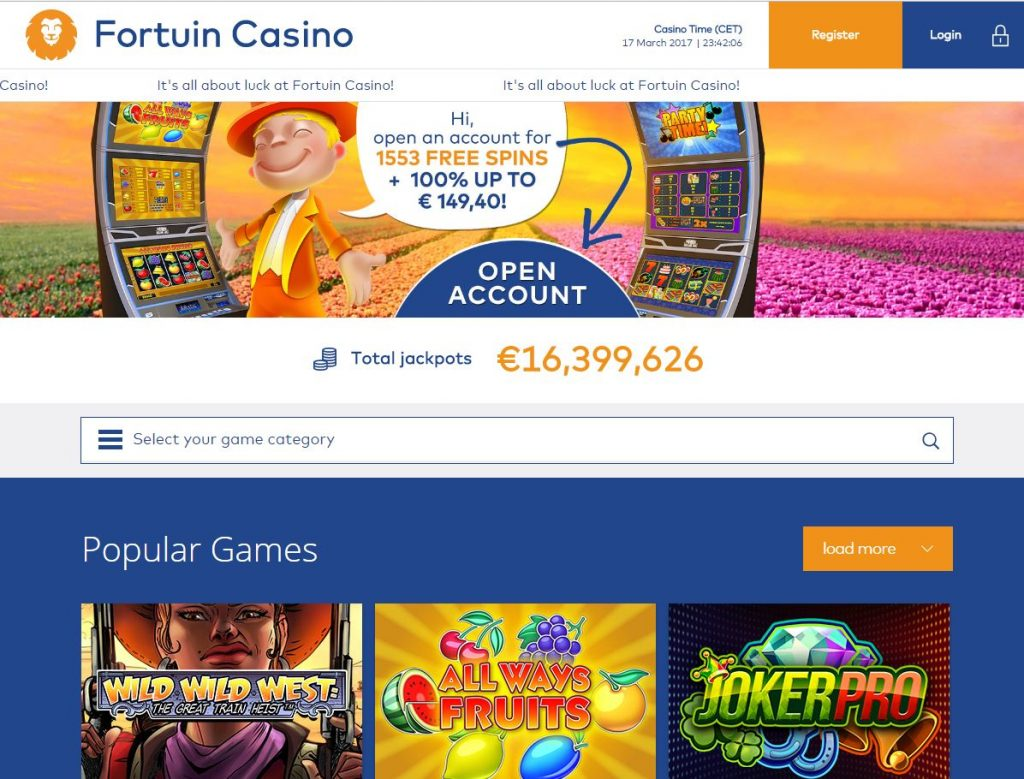 Ervaring van Fortuin Casino